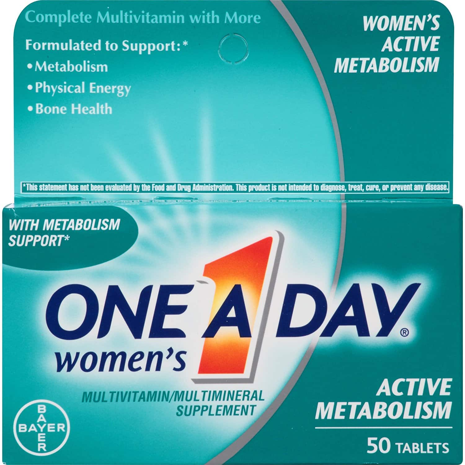 Amazon Add-On: One A Day Women's Active Metabolism Multivitamin, 50 Count - $4.94