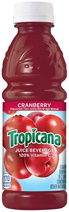 Amazon S&S: Tropicana Cranberry Cocktail Juice, 10 Ounce (Pack of 24) - $9.65