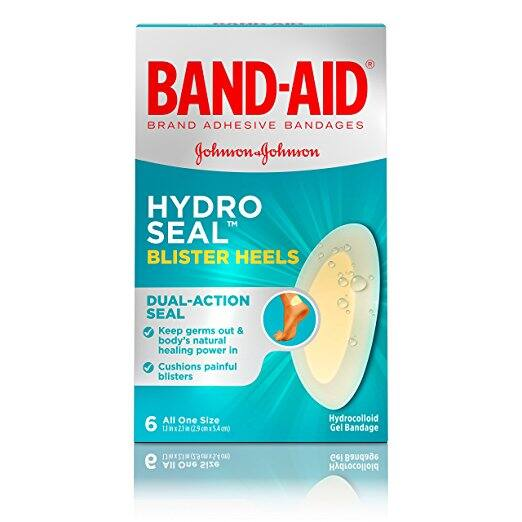 Amazon Add-On: Band-Aid Brand Hydro Seal Waterproof Blister Pad Adhesive Bandages for Heel Blisters, 6 Count - $1.97