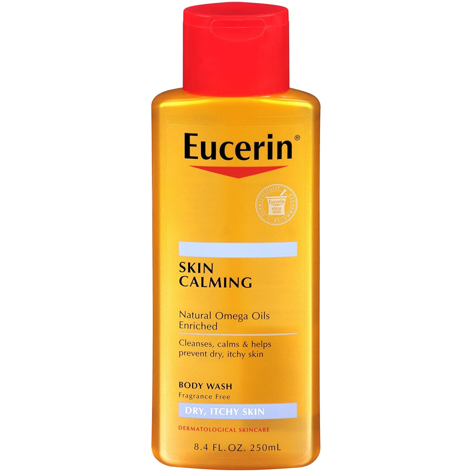 Amazon S&S: Eucerin Skin Calming Dry Skin Body Wash Oil Fragrance Free, 8.4 Ounce (Pack of 3) $11.45