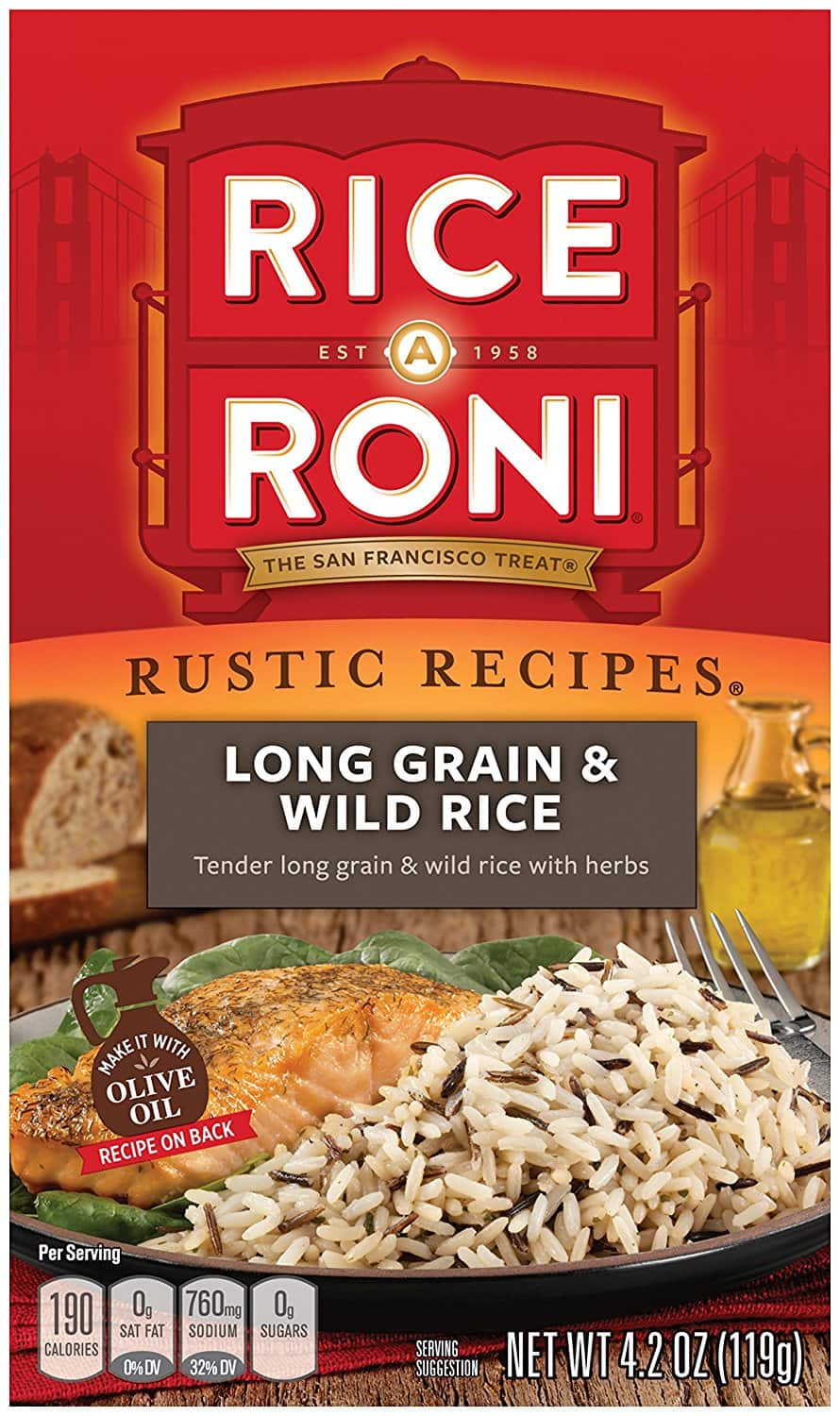 Amazon S&S: Rice a Roni, Rustic Recipies, Long Grain and Wild Rice Mix 4.2oz (Pack of 12 Boxes) - 8.40 $8.4