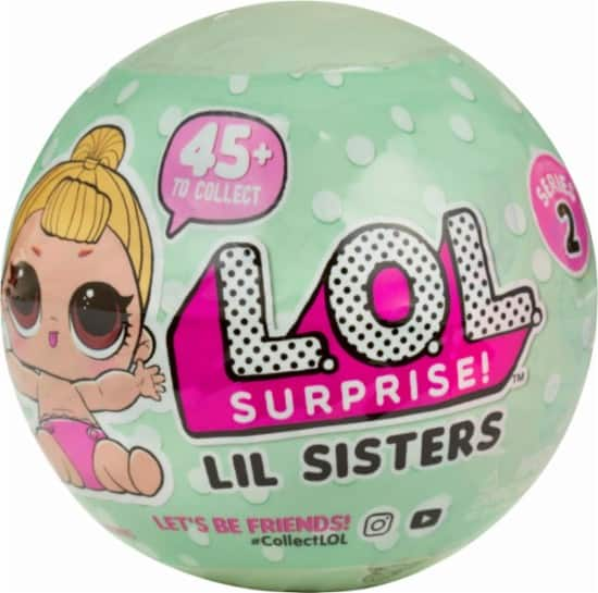 L.O.L. Surprise! - Series 2 Lil Sisters Doll $6.99 + FS at BestBuy.com $7