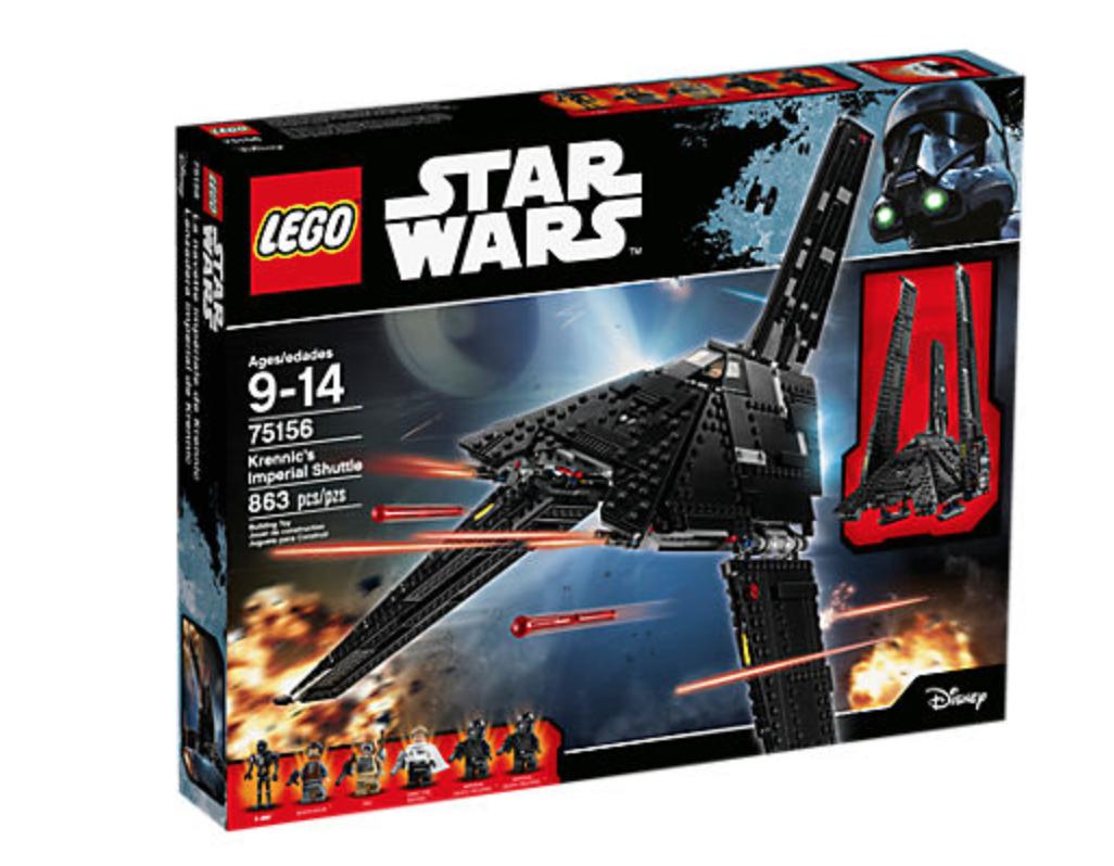 LEGO Star Wars Krennic's Imperial Shuttle 75156 $35 Walmart B&M only YMMV