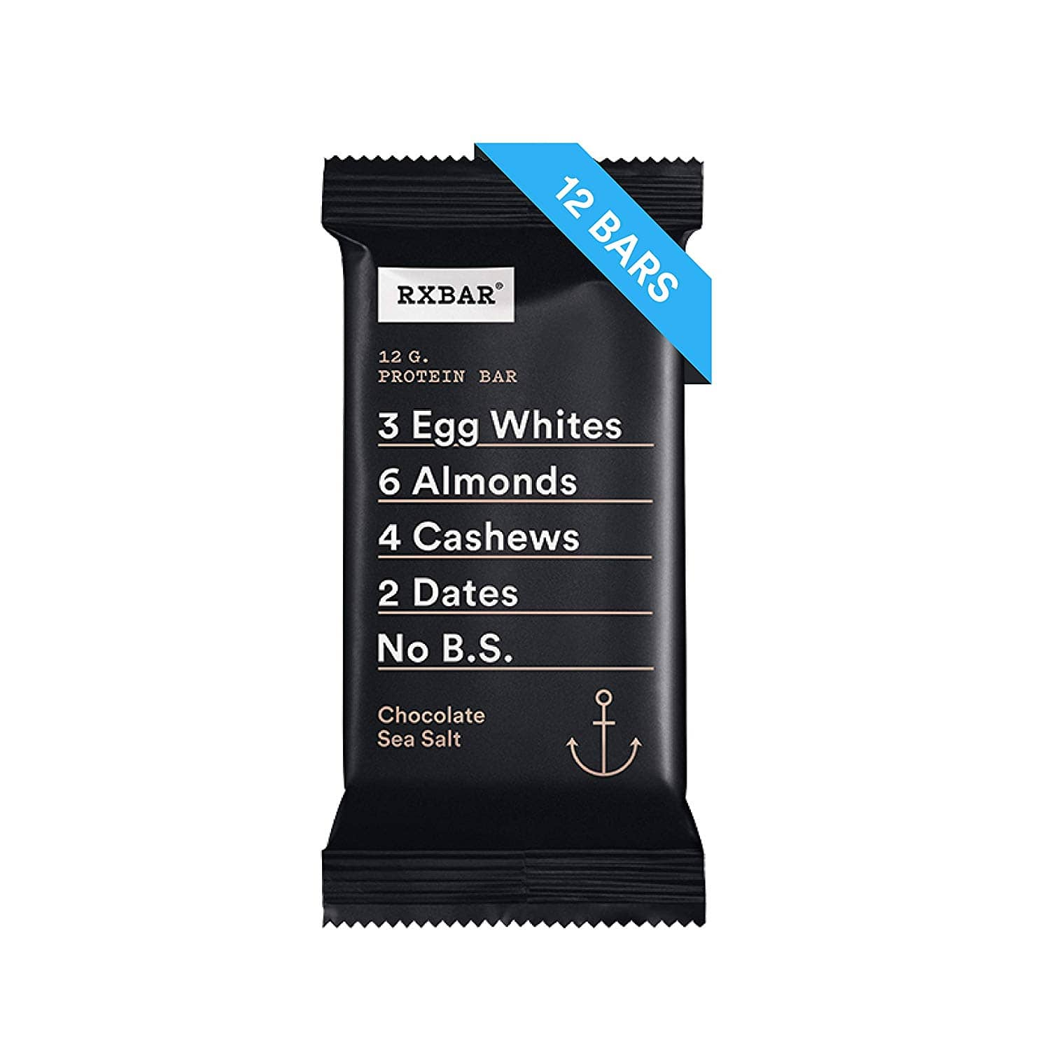 RXBAR, Chocolate Sea Salt, Protein Bar, 1.83 Ounce (Pack of 12) Breakfast Bar, High Protein Snack $16.03