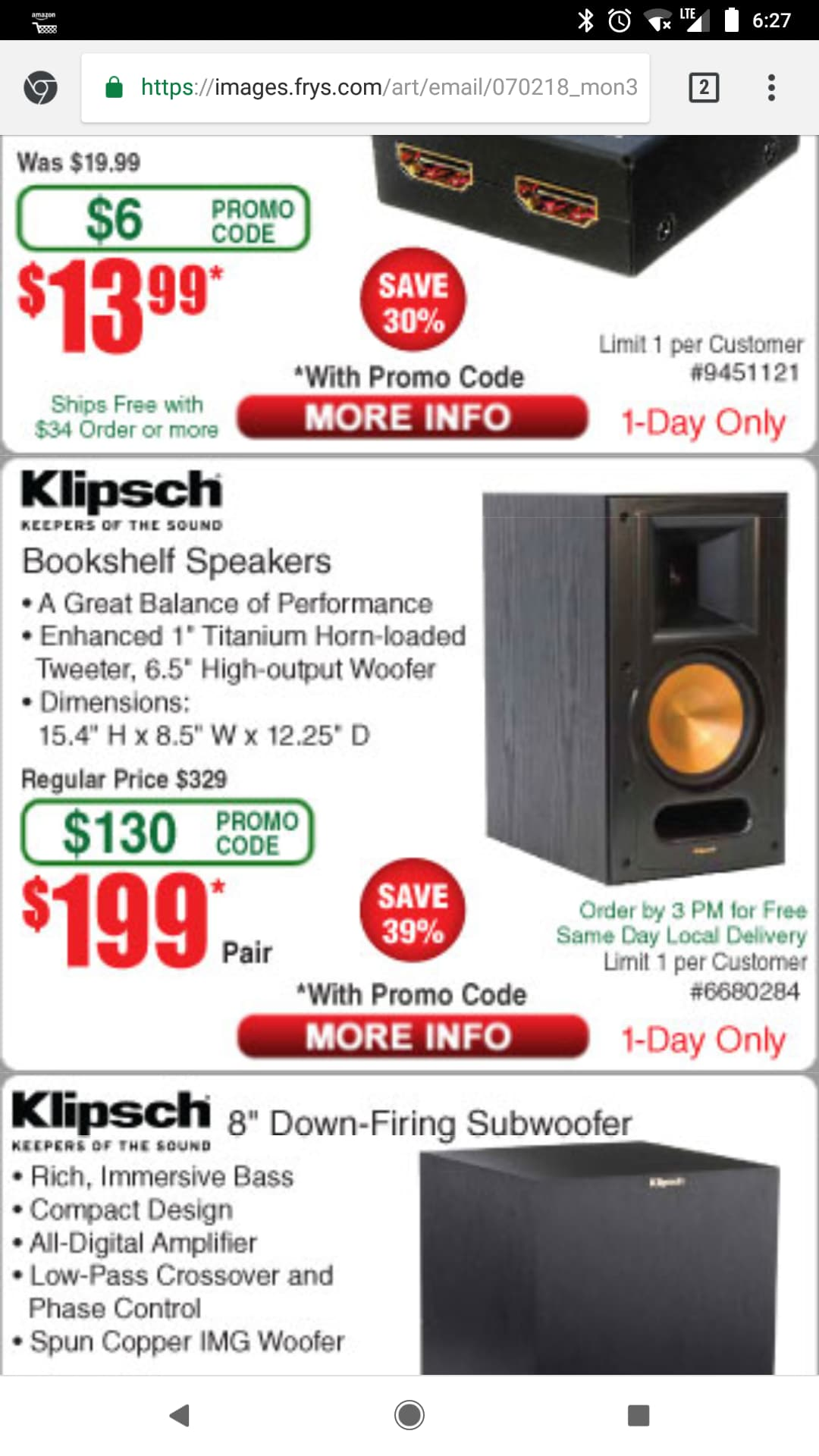 Klipsch RB 61 Ii Pair 19999