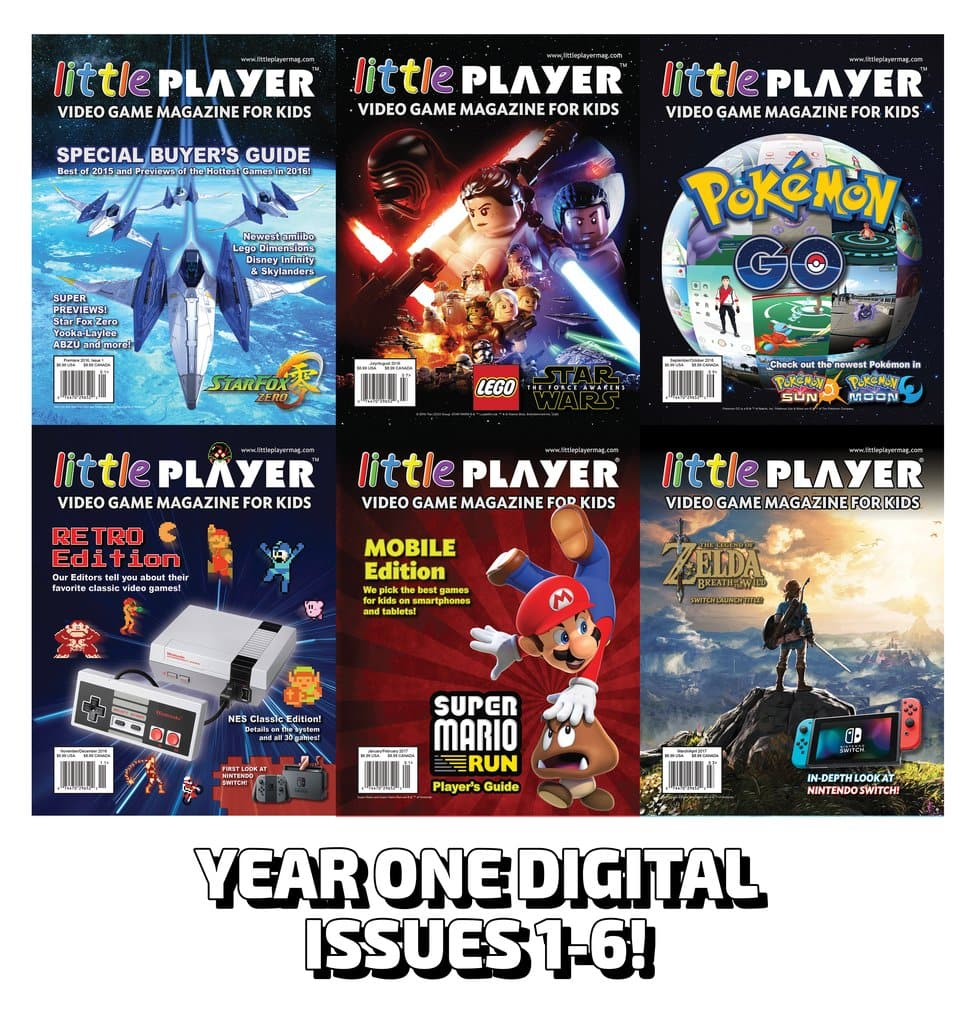 LittlePlayer Magazine (Video Game Magazine for Kids) Free Year 1 and Year 2 Digital Downloads