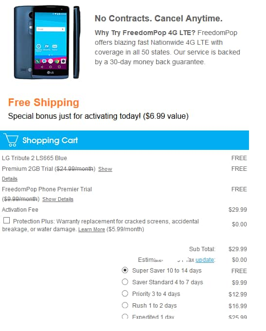 Freedompop Free phone or Hotspot. Pay only activation fee - 30$ $29.99