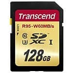 Transcend 128 GB - UHS 3 SD Card Good for 4K Video - 44.95$ with Prime (Last deal @69)