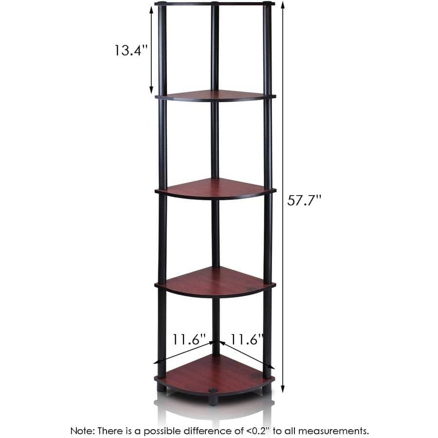 Furinno 99811 Turn-N-Tube 5-Tier Corner Display Rack/Shelf (4 of them with color choice) $32 or less