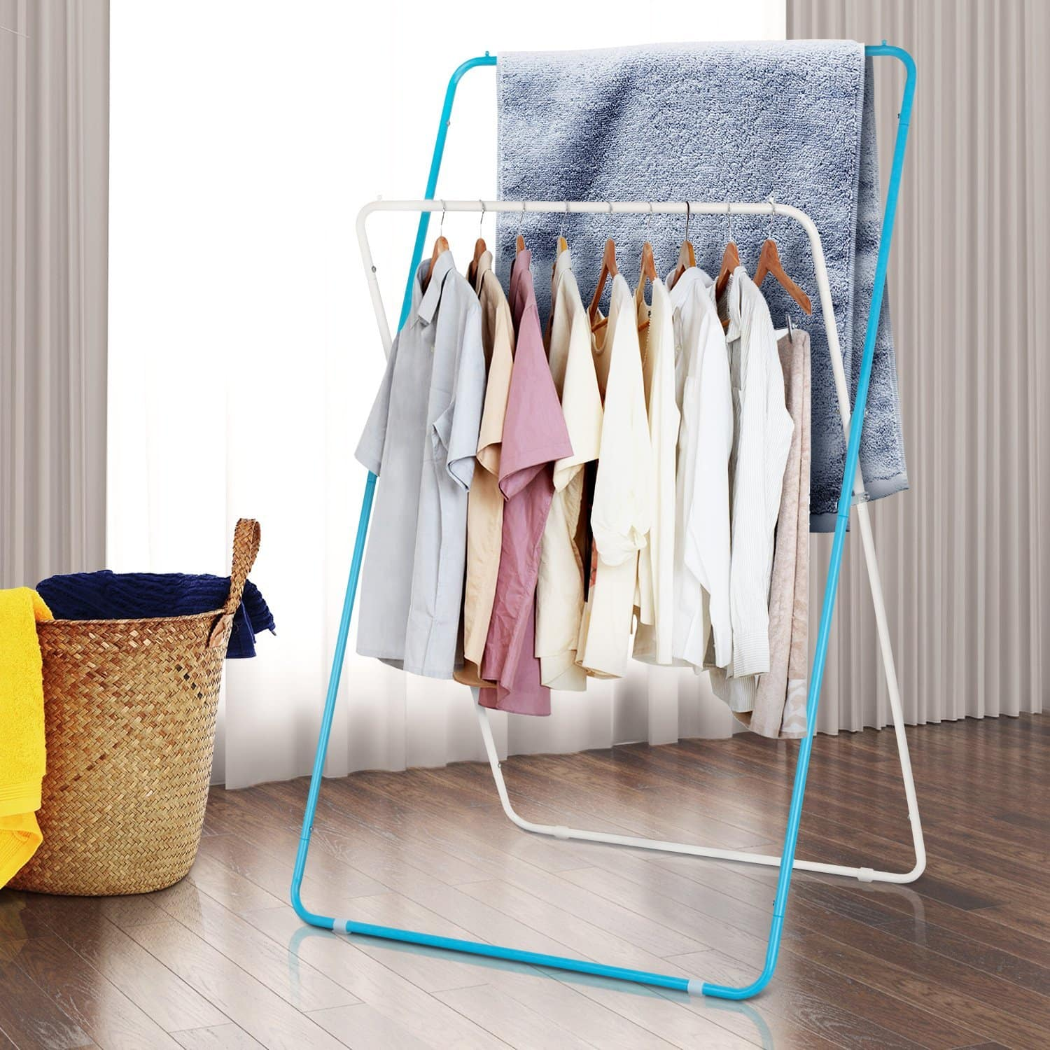 Foldable Clothes Drying Rack Light-weight Laundry Rack Space Saving Garment Rack - $24.83 +FS on amazon