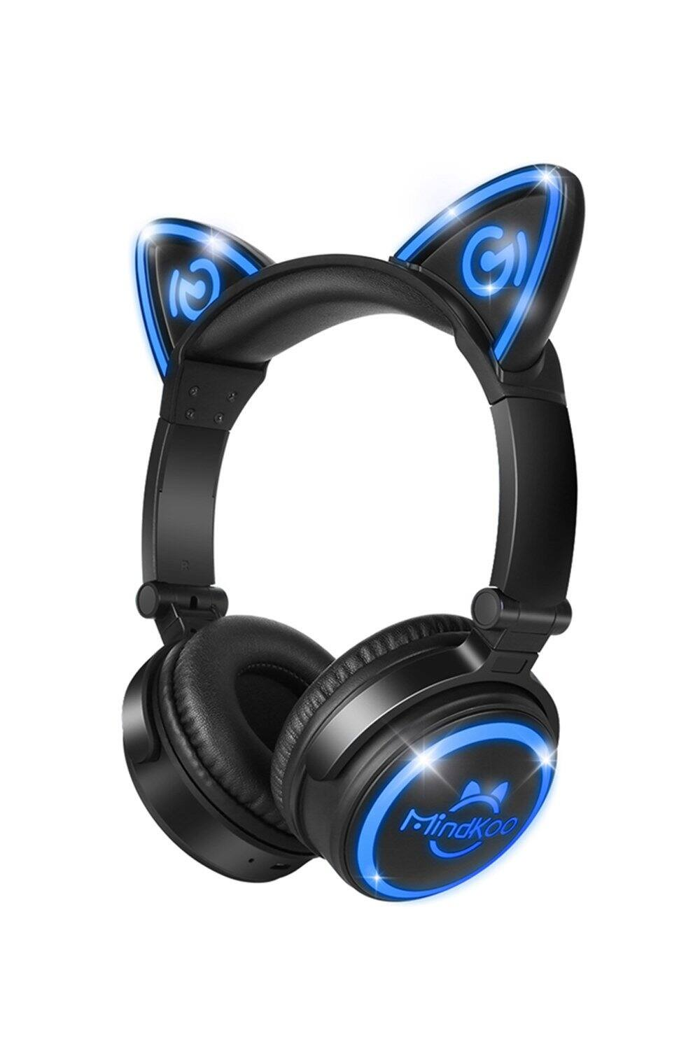 Unicat MH-6 Kids Headphones,Cat Ear Bluetooth V4.2 Headsets On-Ear Earphones wtih Mic - $19.97, FS with Amazon