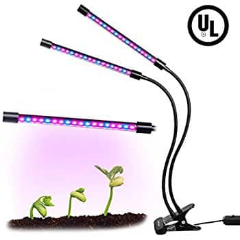 KooPower Dual-Head LED growing light for plants $9.99