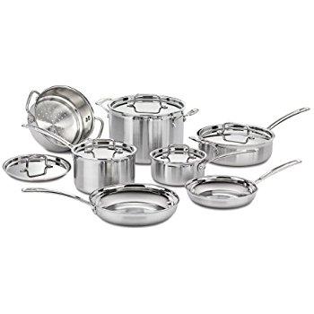 Amazon - $174.99 - Cuisinart MCP-12N Multiclad Pro Stainless Steel 12-Piece Cookware Set