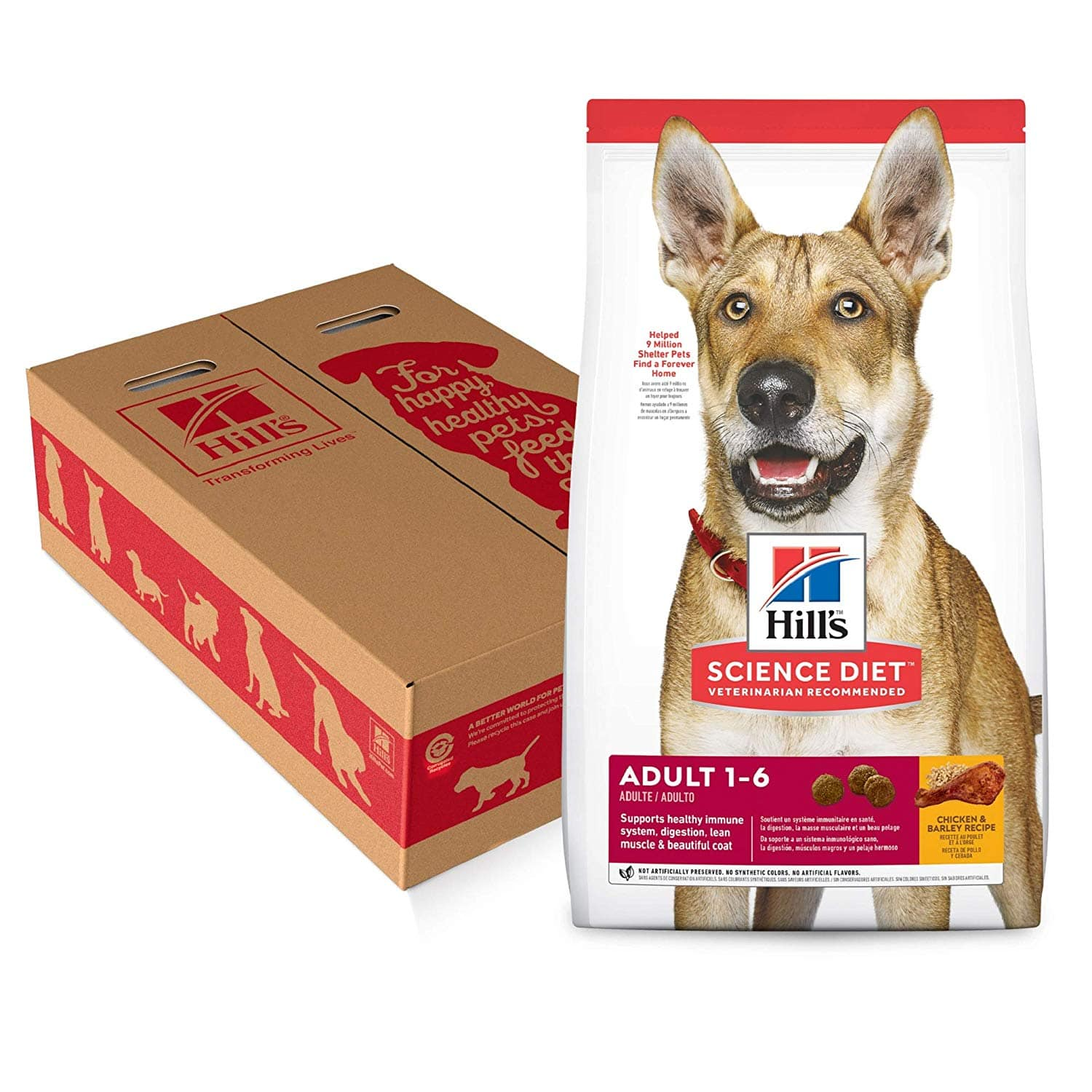Hill's Science Diet Dry Dog Food, Adult, Chicken & Barley Recipe - 35lb bag for $33.02