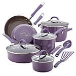 Rachael Ray 12pc Cookware Set $68 after $30 MIR and get $10 Kohls Cash (reg $250)