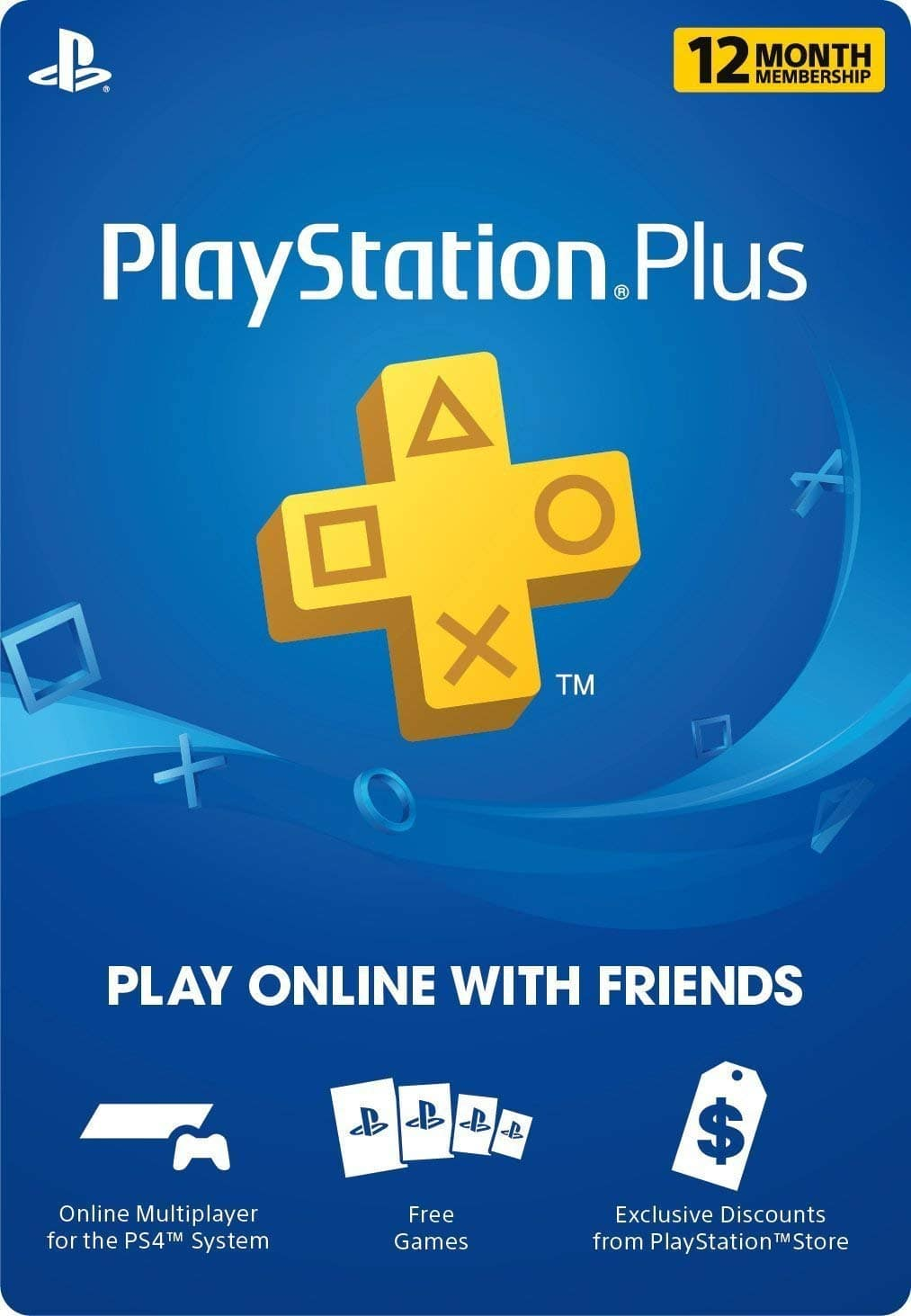 PlayStation Plus 1 Year Membership [Digital] $49.99