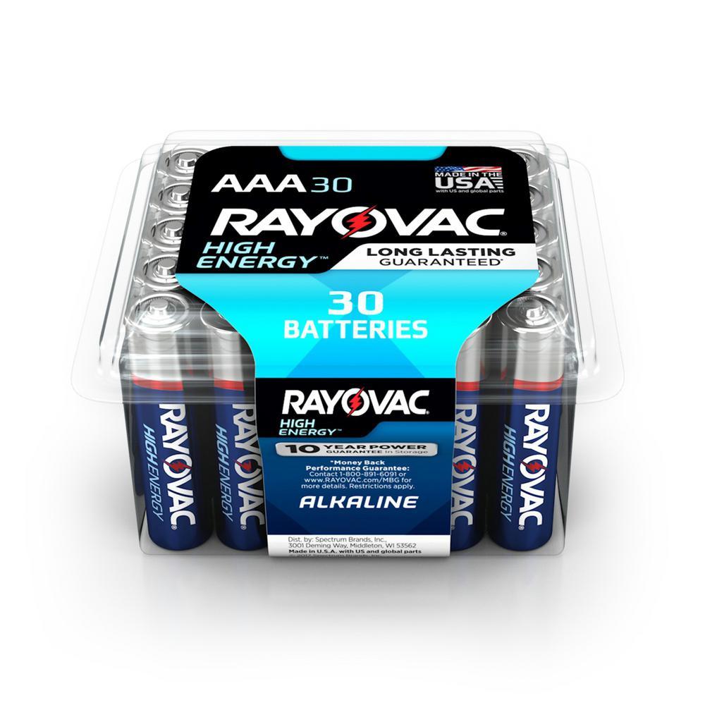 36-Pack Rayovac Alkaline Batteries (AAA) $6 + Free Store Pickup