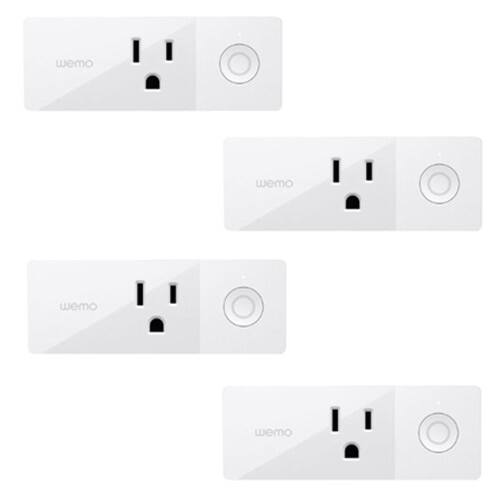 Linksys WeMo Mini Smart Plug (Pack of 4) $89.99 + Free Shipping