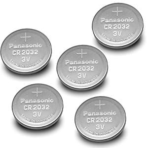 Panasonic CR2032 Lithium Battery (Pack of 5) $2.84 + Free Shipping