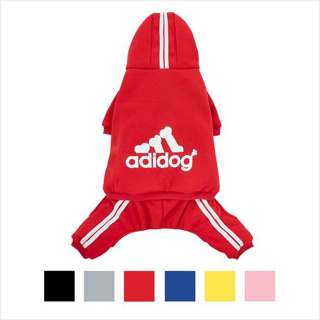 Chewy.com Adidog Tracksuits and Hoodies for Dogs $2.88