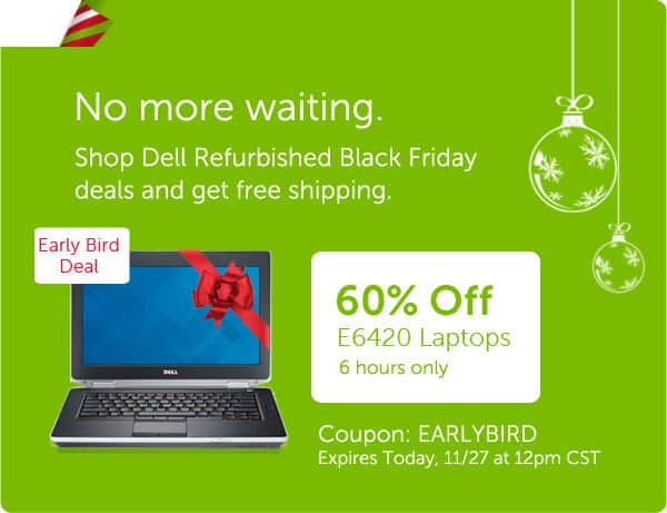 60% Off Dell Refurbished E6420 Laptops - Up to 45% Off Others