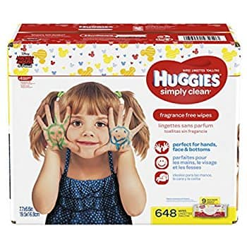 Huggies 648 ct wipes $9.40 or less + Tax w/SS and 20% coupon on Amazon Prime YMMV