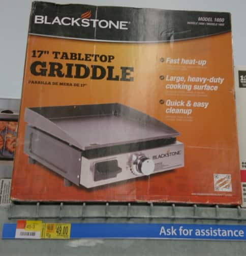 "Select Walmart Stores: Blackstone 17"" Table Top Griddle $50 (Availability May Vary)"