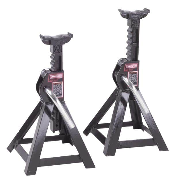 Craftsman 2-1/4 ton Jack Stands, 2 pk. $14.99 Free in store pick-up at Sears. Craftsman Professional 4 -Ton Jack Stands, One Pair $22.99