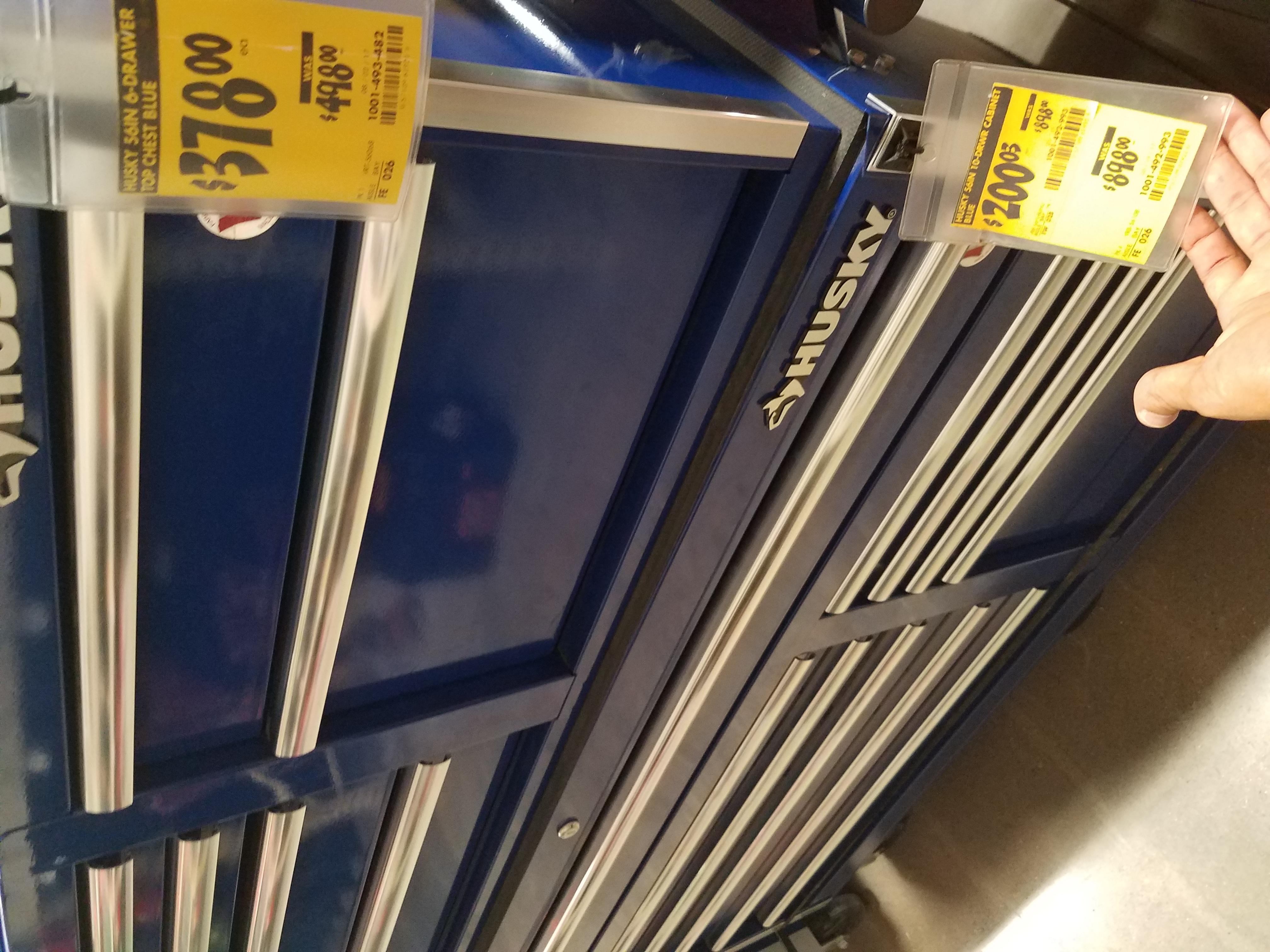 "B&M YMMV  Husky 56"" 10 drawer tool cabinet 200.04"