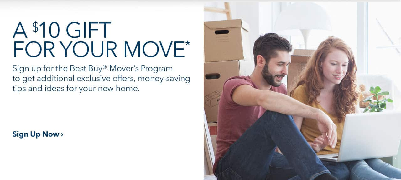Best Buy giving $10 gift card for signing up for best buy mover's program YMMV