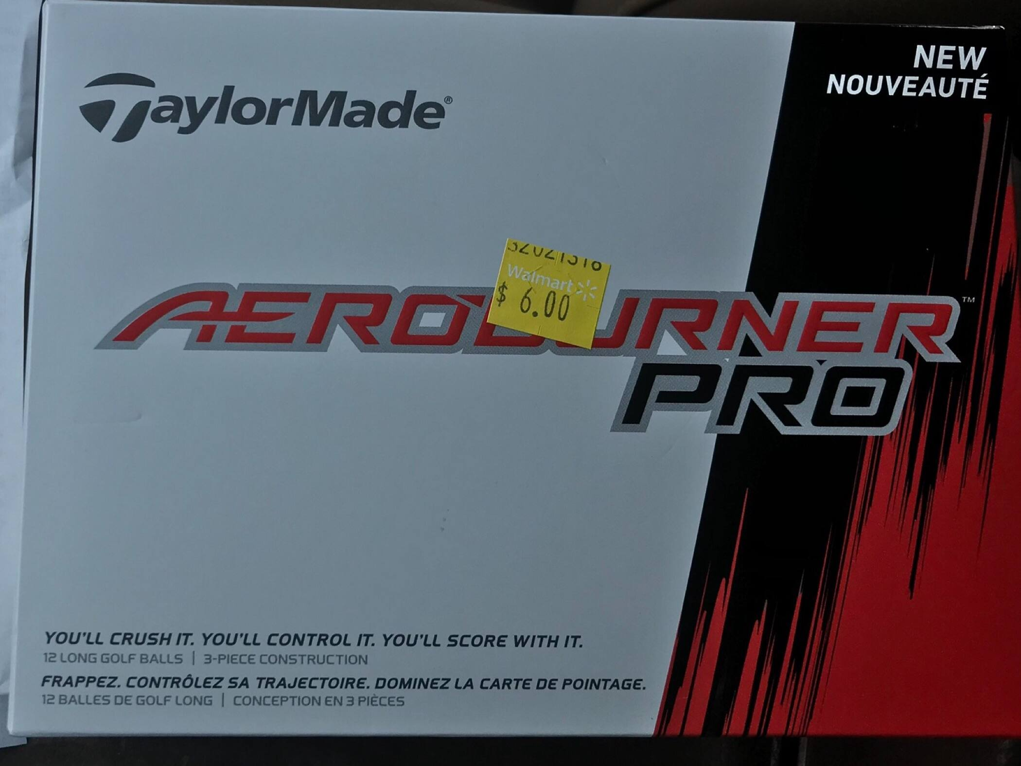 YMMV Walmart - $6/dozen Taylormade AeroBurner Pro Golf Ball