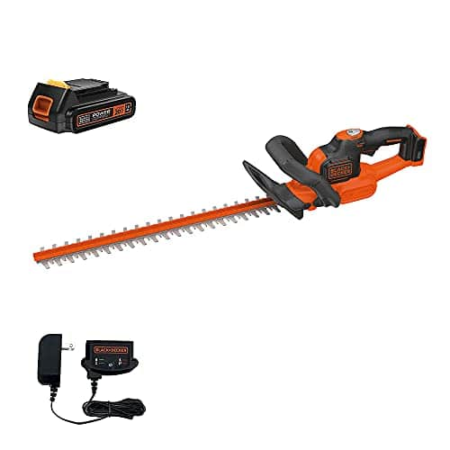 BLACK+DECKER 20V MAX Cordless Hedge Trimmer with Power Command Powercut, 22-Inch (LHT321FF), battery & charger($49 + free prime shipping)