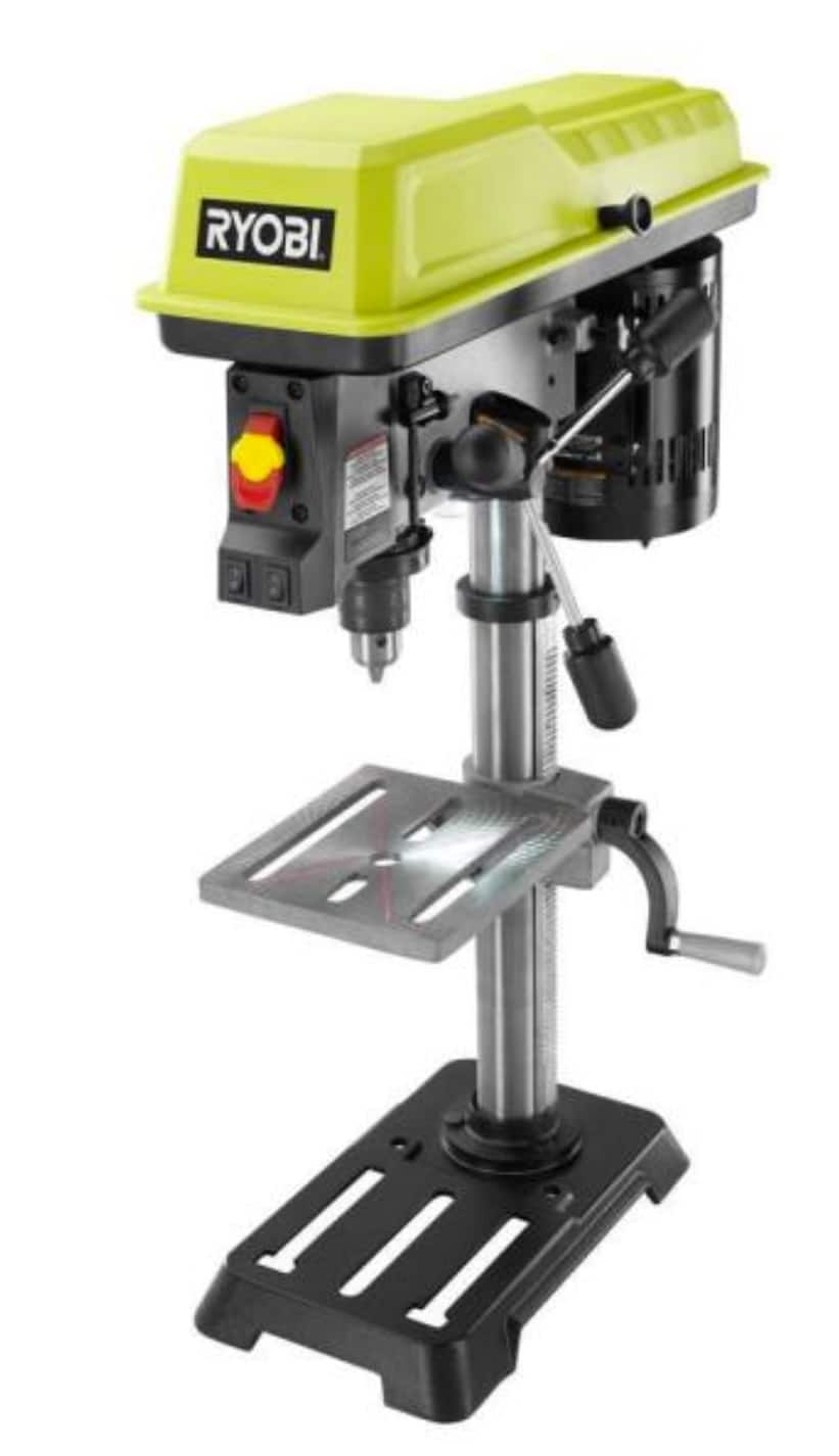 RYOBI 10 In. Drill Press with Laser DP103L Factory Blemished($95.99 + Free Store Pickup/ $7 Shipping)
