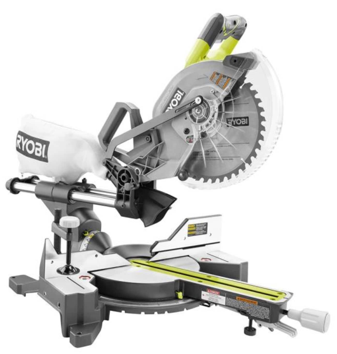 RYOBI ONE+ 18 Volt 10 In. Brushless Dual Bevel Sliding Miter Saw tool only P3650B Factory Blemished ($199.99 + Store Pickup)