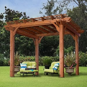 Backyard Discovery Cedar Pergola 10' x 10' $735.96 + fs with prime @amazon