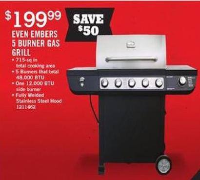 Tractor Supply Co Black Friday: Even Embers 5 Burner Gas Grill for $199.99