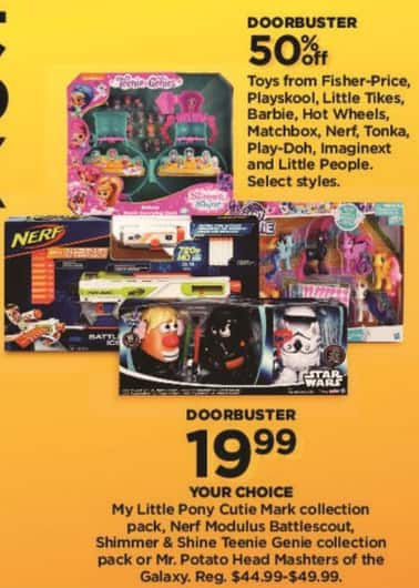 Kohl's Black Friday: Fisher-Price, Playskool, Little Tikes and Barbie Toys in Select Styles - 50% Off