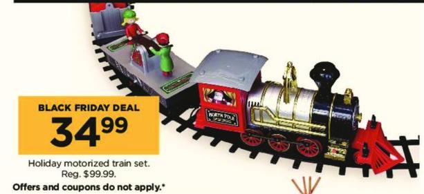 Kohl's Black Friday: Holiday Motorized Train Set for $34.99