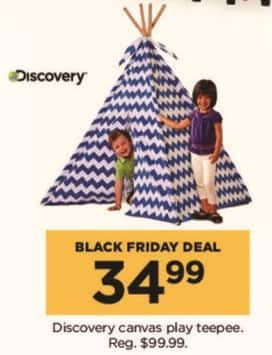 Kohl's Black Friday: Discovery Canvas Play Teepee for $34.99