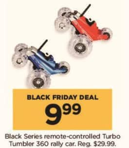 Kohl's Black Friday: Black Series Remote Controlled Monster Spinning Turbo Tumbler RC Toy Car for $9.99