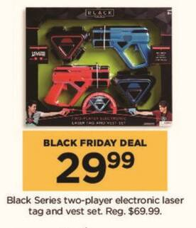 Kohl's Black Friday: Black Series Electronic Laser Tag and Vest Set for Two Players for $29.99