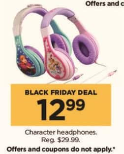 Kohl's Black Friday: Character Headphones in Select Styles for $12.99