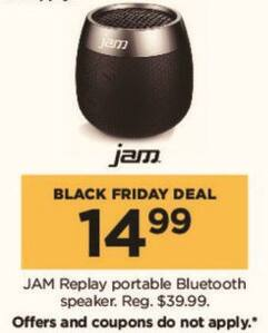 Kohl's Black Friday: HMDX JAM Replay Wireless Bluetooth Speaker for $14.99