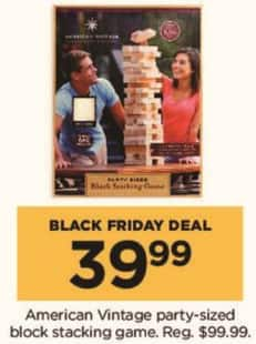 Kohl's Black Friday: American Vintage Party-Sized Block Stacking Game for $39.99