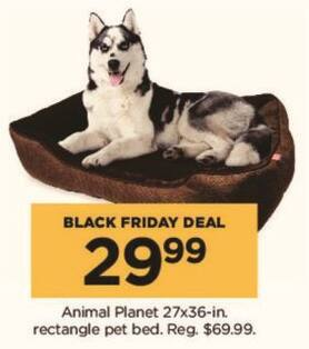 "Kohl's Black Friday: 27"" x 36"" Animal Planet Rectangle Pet Bed for $29.99"