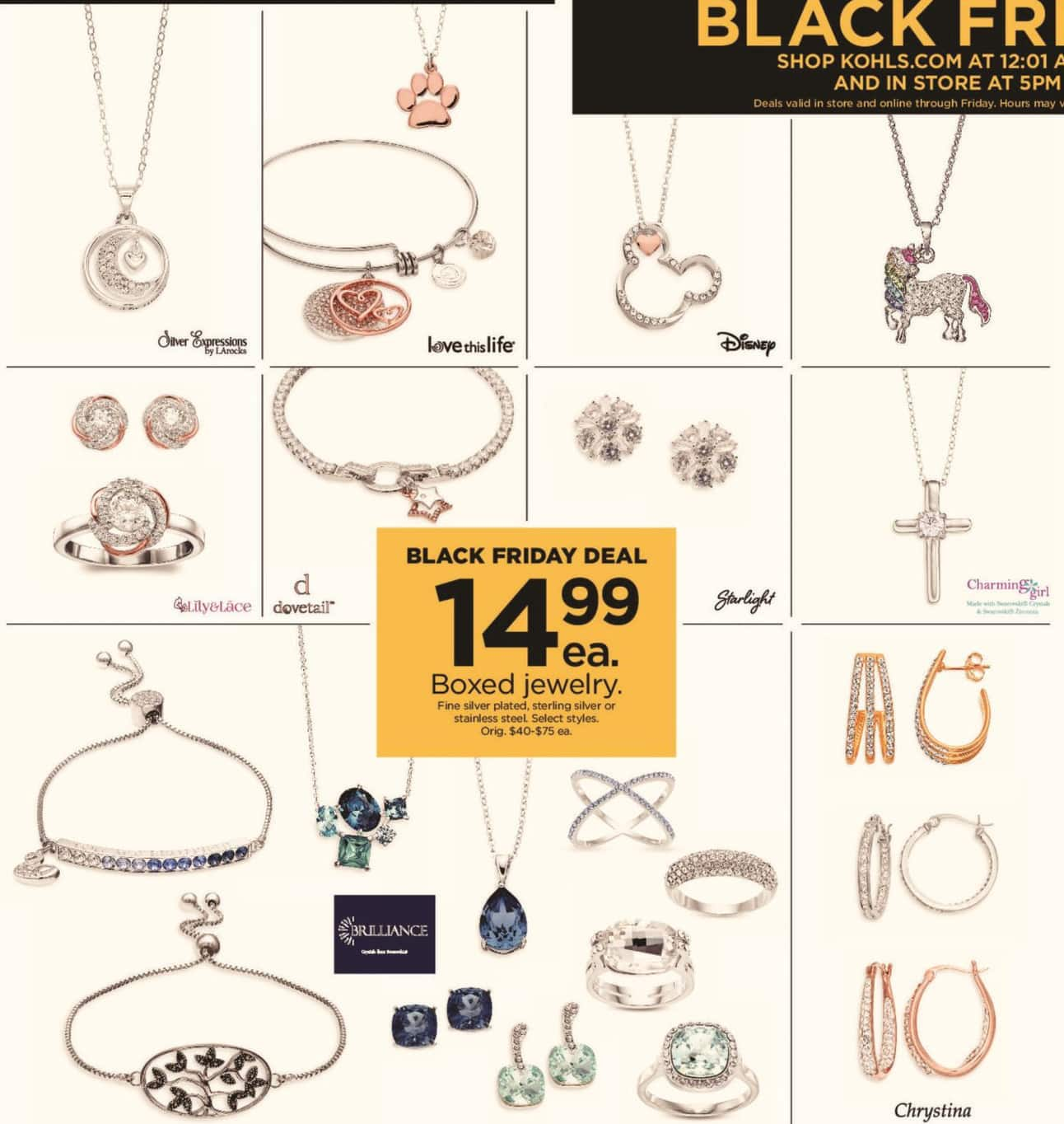 Kohl's Black Friday: Boxed Jewelry in Select Styles for $14.99