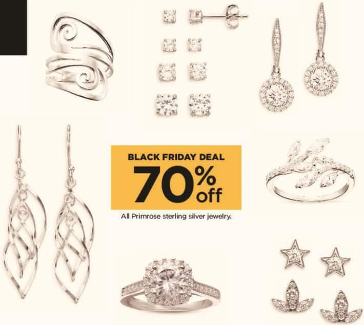 Kohl's Black Friday: All Primrose Sterling Silver Jewelry - 70% Off
