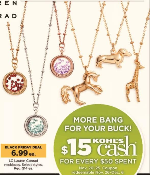Kohl's Black Friday: LC Lauren Conrad Necklaces in Select Styles for $6.99