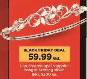 Kohl's Black Friday: Lab-Created Opal Sapphire Bangle in Sterling Silver for $59.99