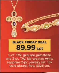 Kohl's Black Friday: 2-Pc. Gemstone and Lab-created White Sapphire Jewelry Set for $89.99